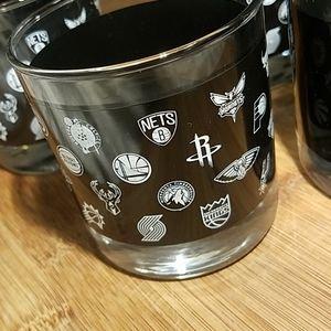 Accents - Set of 6 NBA Jack Daniel's Short Glasses